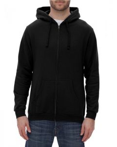 unisex zipper fleece hood