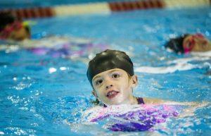 Kyra Menzie, 8, at a Variety Village synchro swim team practice in Toronto, Ont. on Sunday November 15, 2020. PHOTO BY ERNEST DOROSZUK /Toronto Sun